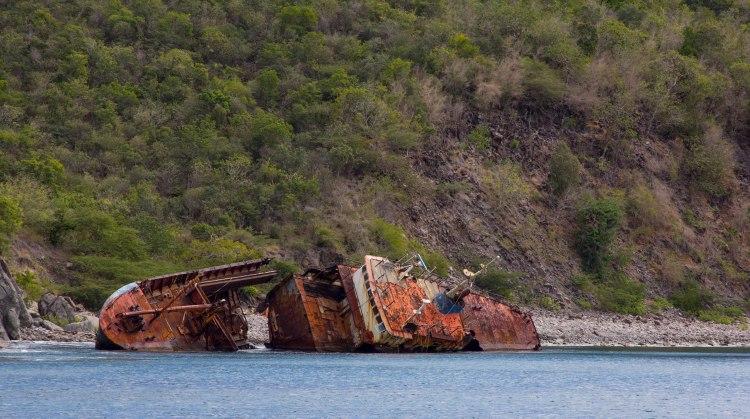 Shipwreck in Shitten Bay